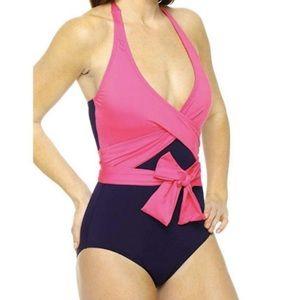 Tommy Bahama Wrap One Piece Swim Suit size 8
